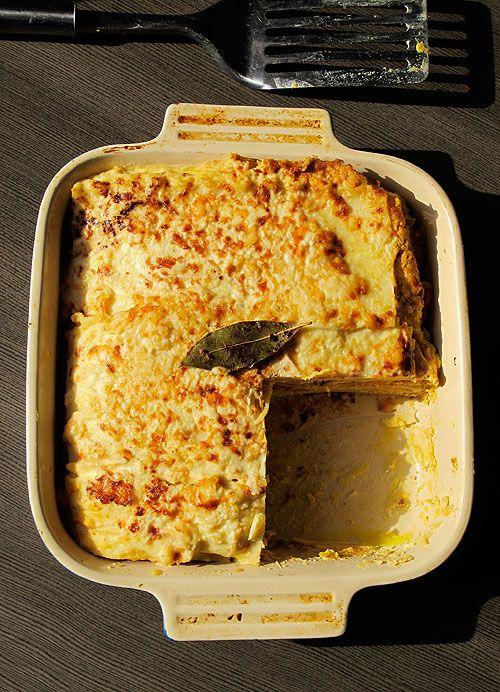 King's Choice Gouda Pumpkin Lasagna with Pancetta & Cheese Cream Sauce