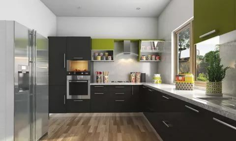 43 Brilliant L Shaped Kitchen Designs 2021 A Review On Kitchen Trends Modular Kitchen Design L Shaped Modular Kitchen Modern Kitchen Design