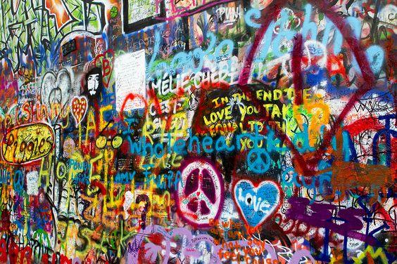 Muro de Lennon: el muro protesta de Praga  #arte #ElMuro #Europa #JohnLennon #pinturas #Praga #RepúblicaCheca