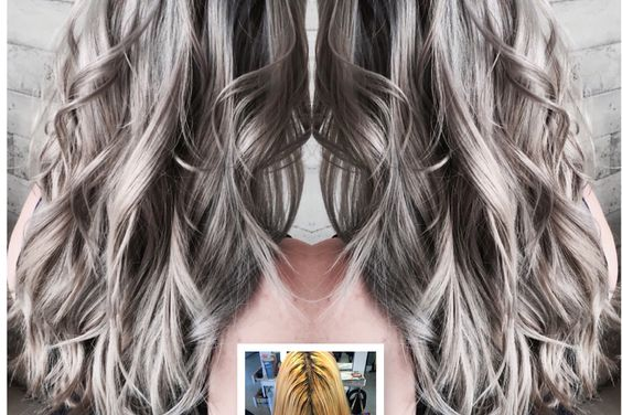 60 s hair styles transformation icy silver blue color melt career 7966