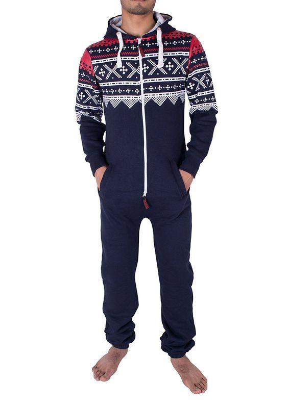 noroze hommes l gant tout en un jumpsuit onesie une pi ce pyjamas v tements et. Black Bedroom Furniture Sets. Home Design Ideas