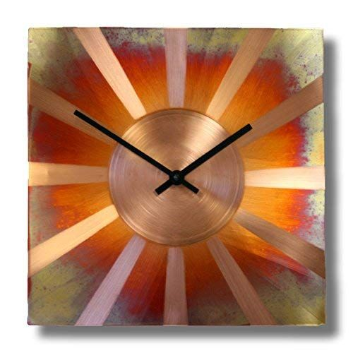 Amazon Com Sunny Copper Square Decorative Wall Clock 12 Inch Silent Non Ticking For Home Office Kitchen Bedro Rustic Wall Clocks Best Wall Clocks Wall Clock