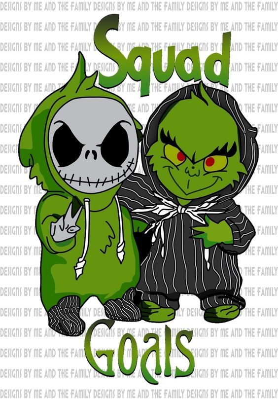Squad Goals Jack Skellington The Grinch Who Stole Christmas Nightmare Before Christmas Best Friends Mean Friends Homies For Life Png Nightmare Before Christmas Drawings Cute Cartoon Wallpapers Cute Christmas Wallpaper