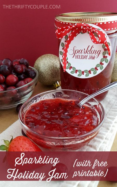 20-Minute Sparkling Holiday Jam Recipe with Free Gift Tag Printables