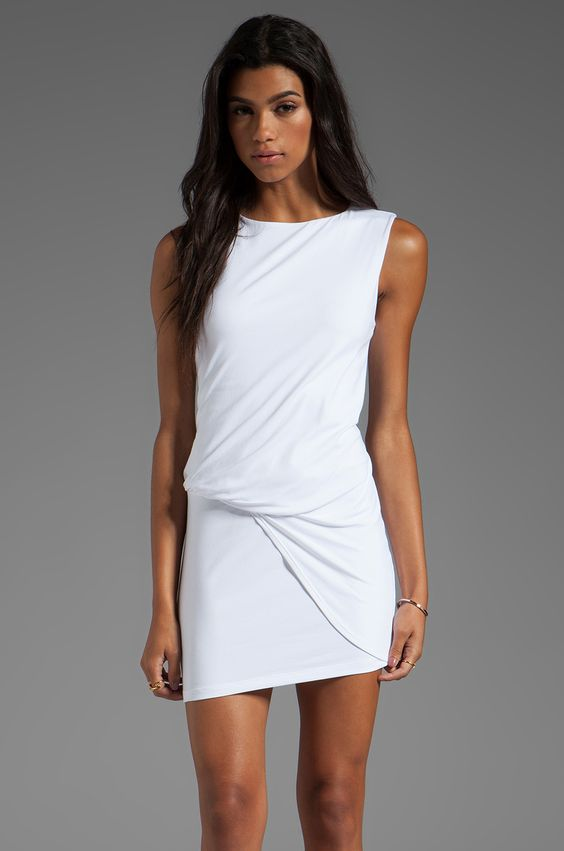 "Susana Monaco Light Supplex Mika 17"" Dress in Sugar from REVOLVEclothing"