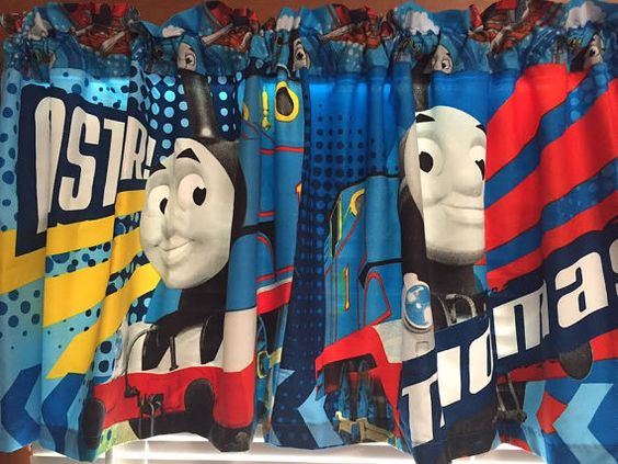 Thomas the Tank Engine Faster Valance  Extra by CheriesSewCrafty