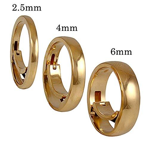 Amazon Com Solid 14k Gold Foreverfit Self Adjusting Ring 2 5mm Wedding Band For Changing Ring Size The Answer To Arthritis Enlarged Ring Size Ring Fit Rings