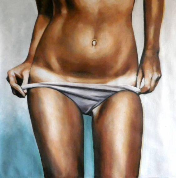 "Saatchi Art Artist Thomas Saliot; Painting, ""Belly button"" #art"