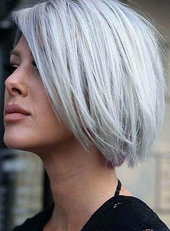 52 Best Silver Grey Hair Colors For Short Thick Hair 2018 Grey Hair Color Silver Medium Hair Styles Gorgeous Gray Hair