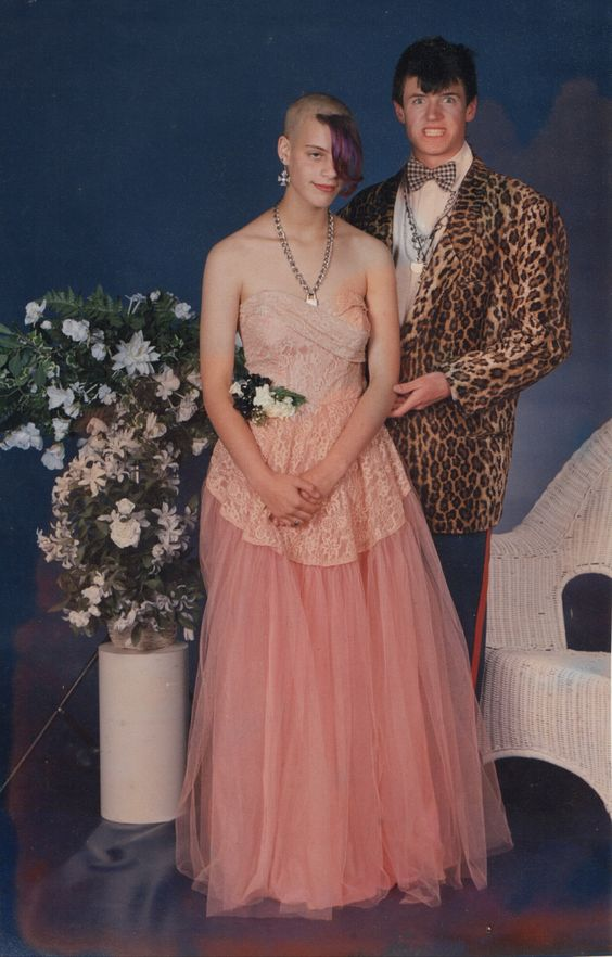 """This was prom 1993 in Rhode Island. I was a freshman and my boyfriend was a senior.  For some reason, we didn't quite fit in at the dance… "" (submitted by Cedar)"