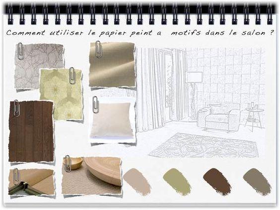 Comment utiliser le papier peint à motifs dans le salon ...