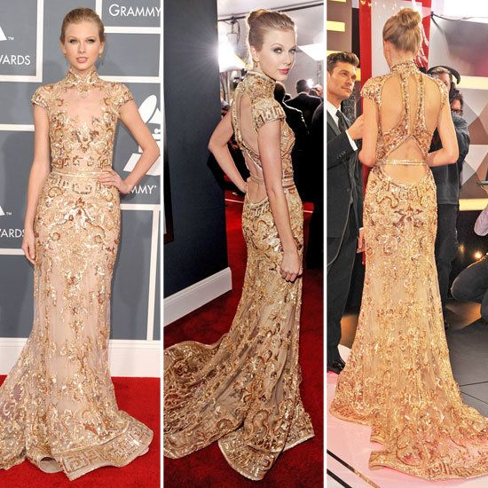 not a taylor swift fan but i do love the zuhair murad gown she is wearing
