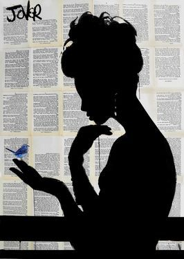 "Saatchi Art Artist Loui Jover; Drawing, ""little blue"" #art:"