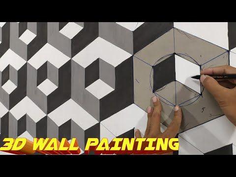3d Wall Painting Cat Tembok 3d Wall Art Painting Decoration Interior Design Youtube Pintar Carton Plantas