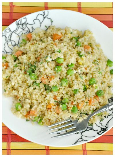 Peas and Crayons: Keen-Wahhhh!? [Adventures in Cooking Quinoa] + Quinoa Fried Rice Recipe: Easy Healthy, Health Food, Side Dishes, Soy Sauce, Rice Recipe, Healthy Recipe, Quinoa Fried Rice, Quinoa Recipes