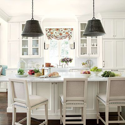 LOVE THIS and the CHAIRS! Lighten Up Kitchen Update - Kitchen Inspiration - Southern Living
