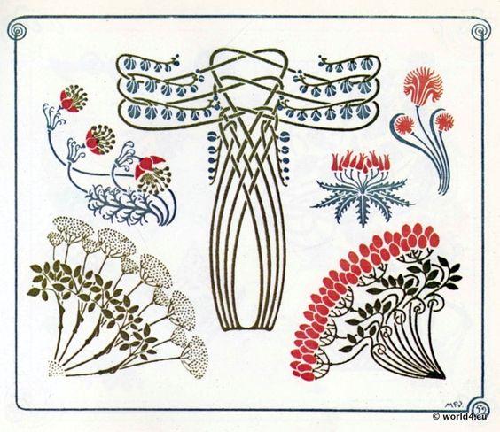 Vintage tattoos and inspiration on pinterest for Ornamente jugendstil