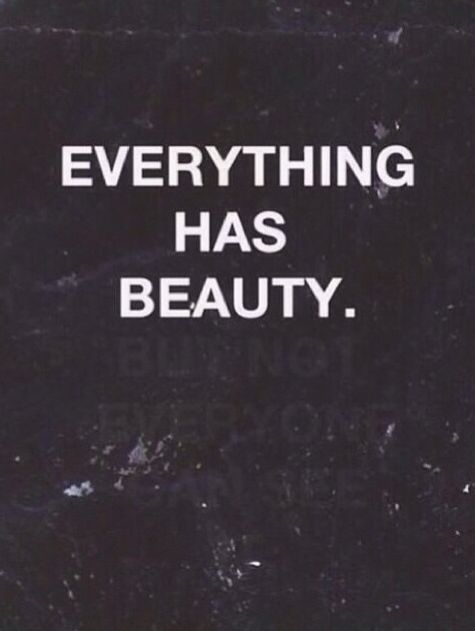 Everything has beauty  _________________________  But not everyone can see it