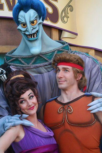 Disney world hercules with megera and hades disney - Hercule walt disney ...