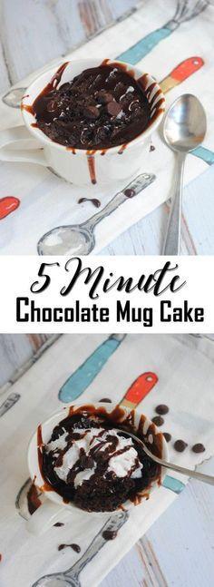 5 Minute Chocolate Mug Cake - A Spark of Creativity