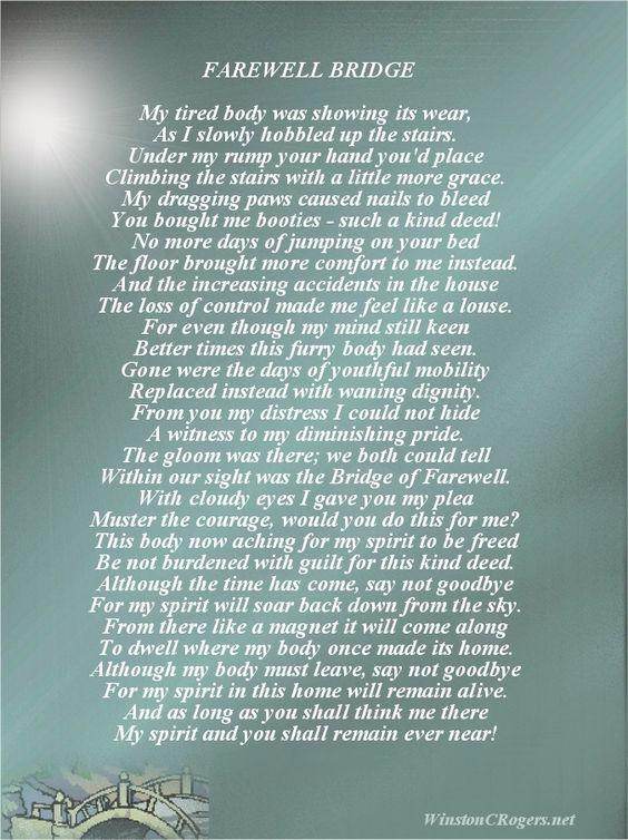 Death Poems | Pet Loss Sympathy and Poetry Cards | զųơɬɛʂ ...