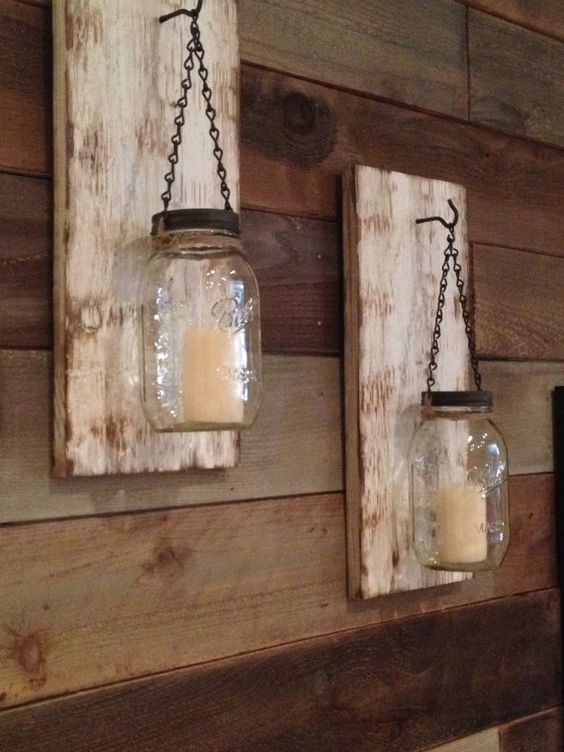 Hey, I found this really awesome Etsy listing at https://www.etsy.com/listing/222911425/rustic-mason-jar-wall-sconce-set-of
