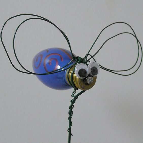 Hand painted glass bulb bug by CedarBreezes on Etsy