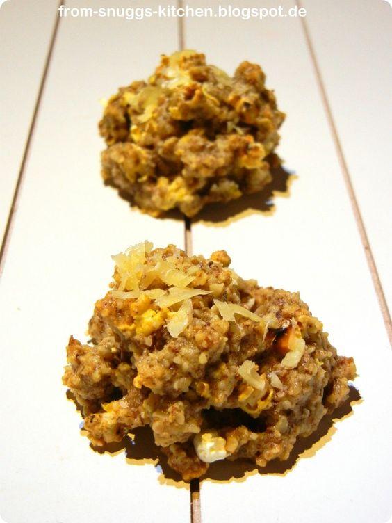 savory popcorn macaroons / deftige popcorn makronen