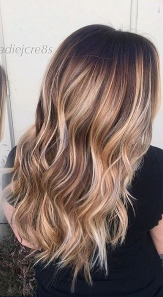 bronde and bronze balayage brunette highlights hair