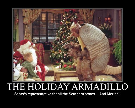And santa, the holiday armadillo and I will go have a talk in the ...