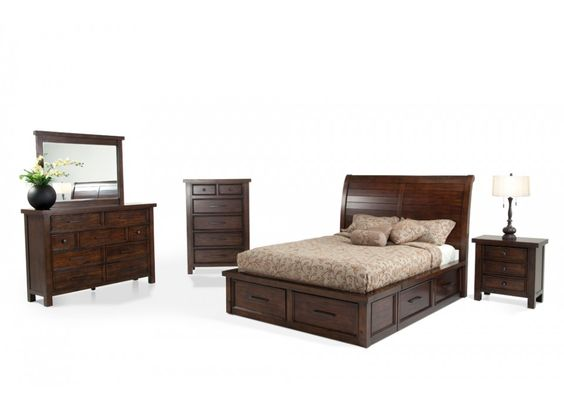 Discount furniture Bedroom sets and Bobs on Pinterest