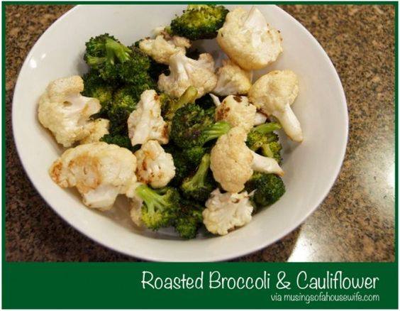 roasted-broccoli-and-cauliflower-recipe. This was amazing. The only thing I did different was to set my oven to 500 degrees and I used sea salt and no pepper. I did sprinkle with Parmesan cheese at the end and put it back in the oven for just a few minutes to melt it. The whole family raved about them.