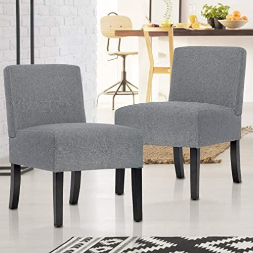 New Bestmassage Accent Chair Set 2 Accent Chairs Living Room Armless Chair Dining Chair Elegant Design Modern Fabric Living Room Chairs Sofa Online Shopping In 2020 Accent Chairs Accent Chair