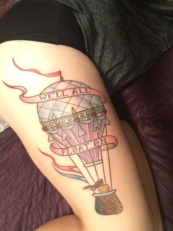 MY tattoo! hot air balloon, we'll all float on, feminine.