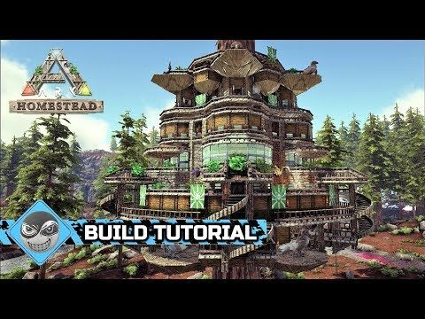 Ark Survival Evolved How To Build A Treehouse Homestead Build