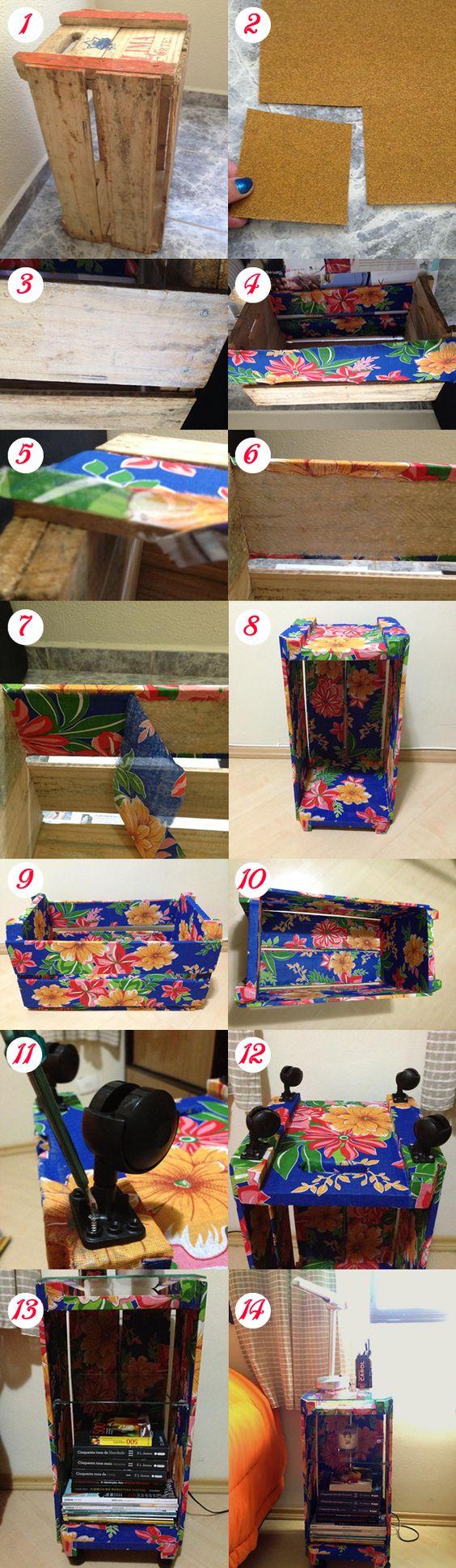 Como transformar um caixote em um lindo criado mudo!: