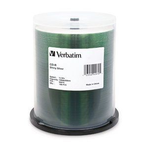 VERBATIM Disc, CD-R 80 min, Shiny Silver silk- screenable only, blank, spindle of 100, 52X 100/PK by Verbatim. $27.90. Disc, CD-R 80 min, Shiny Silver silk-   screenable only, blank, spindle of 100, 52X