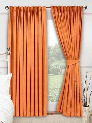 Try matching this curtain with spicy tones of rusty red and yellow ...