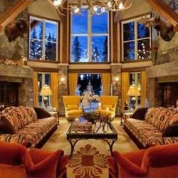 Cozy living room like the Christmas in Colorado with Jimbo's son, Sabine's surprise gift, Secrets of Dunn House.