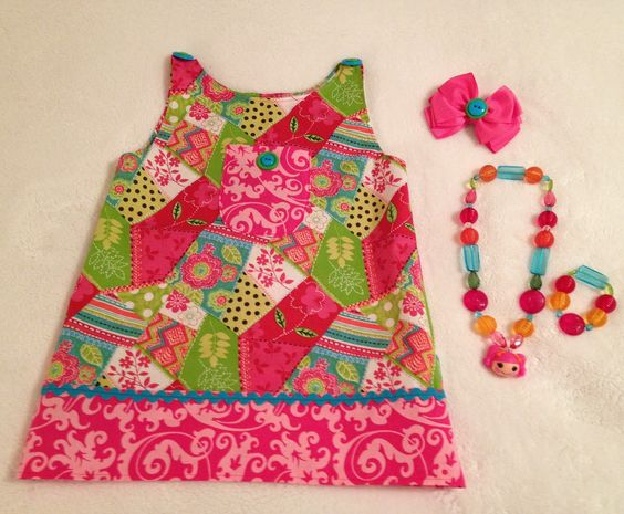 Lalaloopsy dress, necklace, bracelet, & matching hair bow. #teampinterest #LOPTeam #etsy