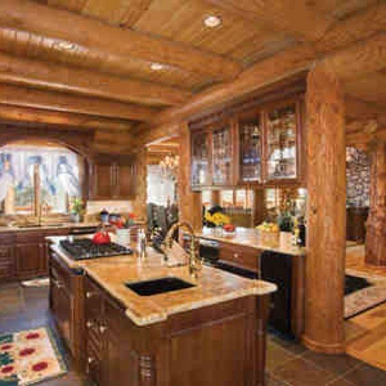 Amazing Kitchens: Log Cabin Interior