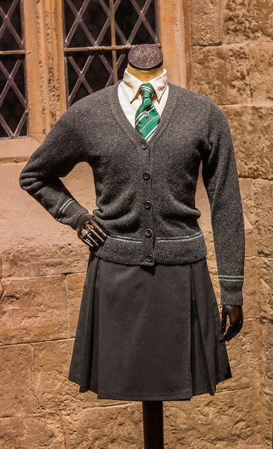 A girlu0026#39;s Slytherin school uniform.   Perhaps in Slytherin   Pinterest   Looking forward ...