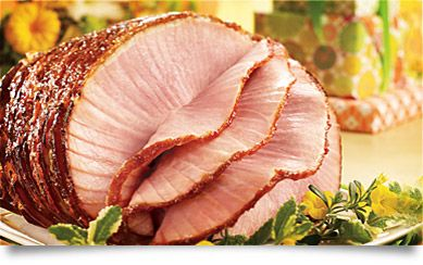 HoneyBaked Ham - the largest size possible, despite there only being 4 meat eaters among us.  Last time, my mother (the vegan) ate half the ham and DH wanted leftovers. Now, there has to be leftovers.