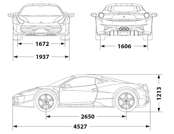 Ferrari 458 Italia (2010) | SMCars.Net - Car Blueprints Forum