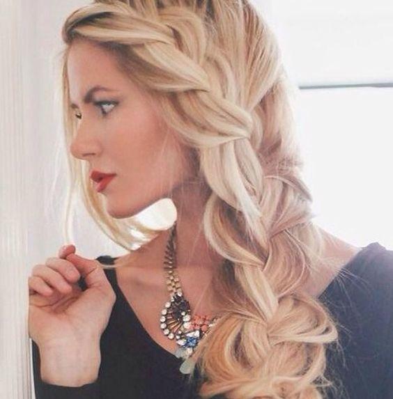 Fantastic Side Braid Hairstyles Braid Hairstyles And Side Braids On Pinterest Hairstyle Inspiration Daily Dogsangcom