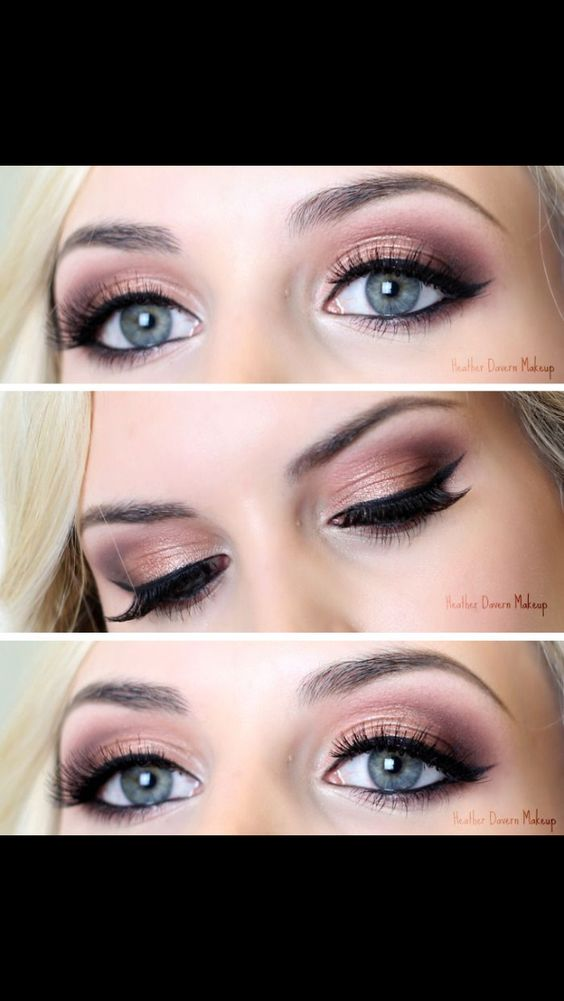 Fall makeup for blue eyes