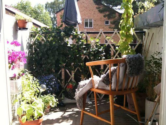 den fina trädgårdsbalkongen
