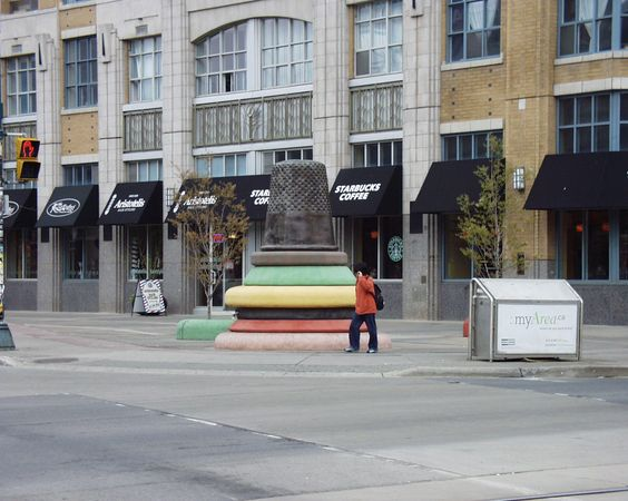 Giant thimble in downtown Toronto, Ontario