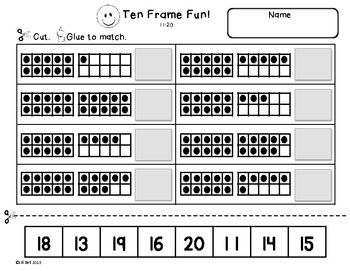 Worksheet Ten Frame Worksheets snowflakes student and the ojays on pinterest this is a set of 6 ten frame worksheets students will practice identifying showing