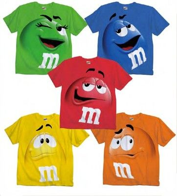 Adult Youth Kids M M's M M Face Chocolate Candy Costume T Shirt Tee M M Shirt | eBay